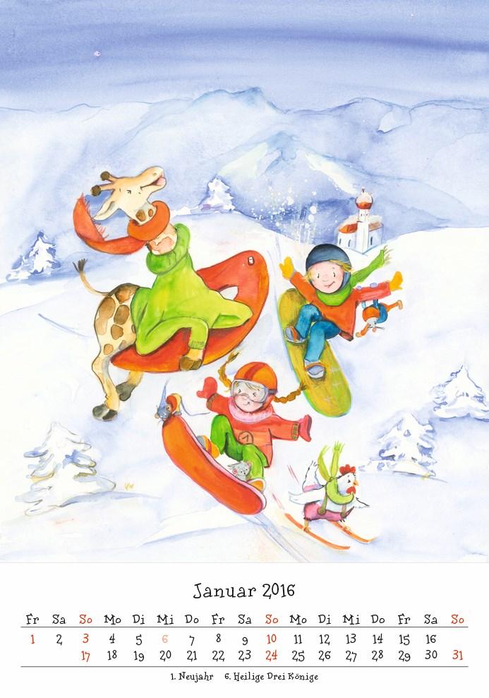 Bunter Kinderkalender 2016.indd