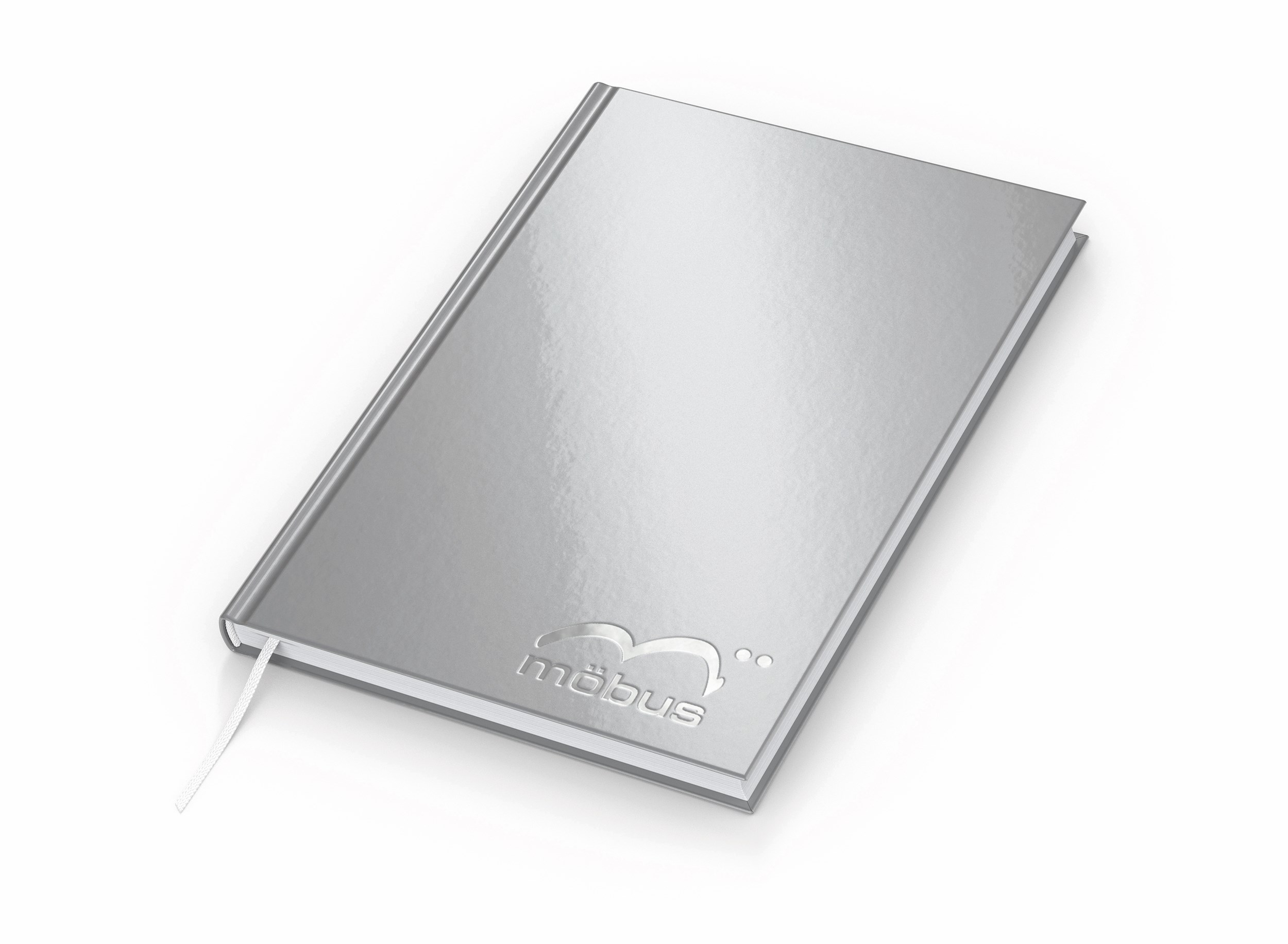 Note-Book A5 Complete Cover-Star gloss silber – Silberprägung_HR-CMYK